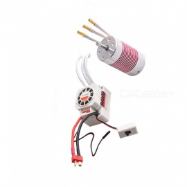 3660 3800KV RC Brushless Motor & Waterproof Electric 60A ESC Kit RC Car Part for 1/10 RC Car Toys Model Rock Crawler