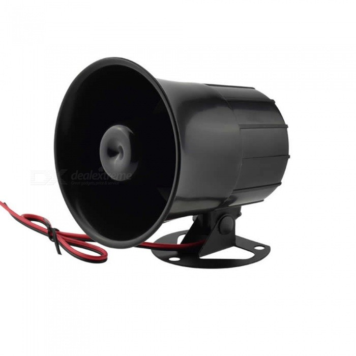 Loud Lighting Contactor: Dc 12v 15w Electronic Wired Siren Horn Speaker Alarm