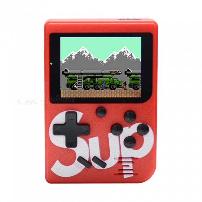 Image of Sup X Game Box Retro Handheld Game Console Rechargeable Game Player Machine, Built-in 129 Classic Games red