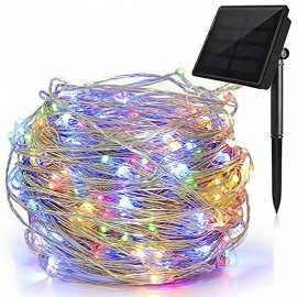 Solar-String-Lights-72ft-8-Modes-Starry-Lights-200-LED-Waterproof-IP65-Fairy-Christams-Decorative-Lights-(Warm-White)