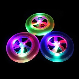 Flash Frisbee Plastic Beach Flying Disc LED Disk Light Up Frisbees Outdoor Toys Random Color Pink/23cm
