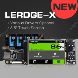 LERDGE-X 3D Printer Controller Board For Reprap Motherboard With ARM 32Bit Mainboard Control(LV8729 Drive ) Black