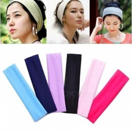Universal Towel Absorbent Sweat Headband Elastic Sweatband Sport Yoga Hair Bands Sports Safety Black