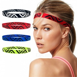 Absorbent Stretch Sweat Headband Sweatband Sports Running Yoga Hair Bands Black