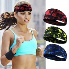 Absorbent Stretch Sweat Headband Breathable Sweatband Running Fitness Yoga Sport Hair Bands Green