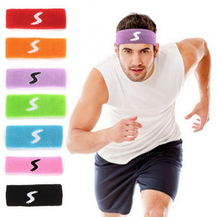 Towel Absorbent Stretch Cotton Sweat Headband Sweatband Yoga Hair Bands Sports Safety