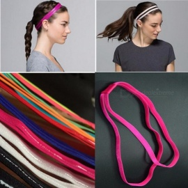 Elastic Rope Candy Color Sport Yoga Headbands Anti Slip Running Play Football Hair Hoop Accessories White