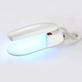 Mini 1.7W LED Nail Dryer Fast Drying Lighting USB Power Charging Nail Hydrogel Phototherapy Machine Nail Art Tool White