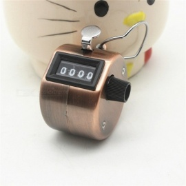 New Bronze Machinery Four-digit Counter ABS Plastic Manual Reading Buddha Frequency Counters Analysis Equipment Brown