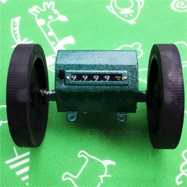 Z96-F Roller Wheel Mechanical Counters Meter Textile Printing Artificial Leather Plastic Film Length Record Meter Z96F Black