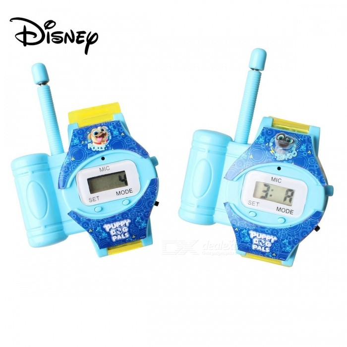 Disney Junior Puppy Dog Pals Walkie Talkie Watch Interphone For Barn Over 3 År Blå