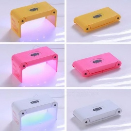 Mini 4W UV LED Nail Dryer Fast Drying Lighting USB Power Charging Nail Hydrogel Phototherapy Machine Nail Art Tool Pink