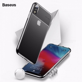 Baseus 6.1 Inch TPU Mobile Phone Case Transparent Creative Patchwork Fitted Cases For Iphone Black/tpu