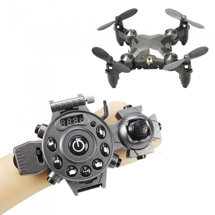 ESAMACT Watch Control RC Drone, Foldable Quadcopter w/ Altitude Hold, G-Sensor Control, Headless Mode, One Key Return