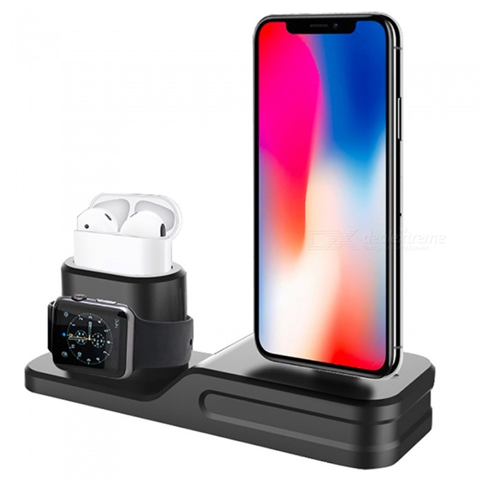 Apple Watch Charging Stand 3 in 1 iPhone Silicone Charger Dock Station