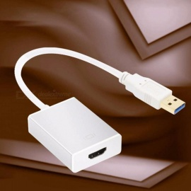 USB 3.0 To HDMI Adapter Cable Converter For Laptop Desktop Silver