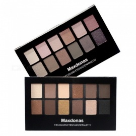 Maxdonas 12 Colors Eye Shadow Nude Earth Eyeshadow Palettes Matte Shimmer Eye Makeup Long Lasting Chocolate