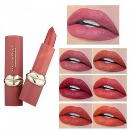 MISS ROSE Creative Lip Designed Matte Lipstick Fashion Makeup Lip Stick Cosmetic Chocolate