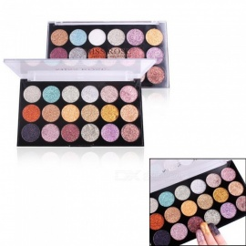 MISS ROSE 18 Colors Eye Shadow Glitter Eyeshadow Palettes Eye Makeup Sequins Shining Long Lasting Loose Powder Orange