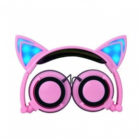 Cute-Cat-Ears-Style-Folding-Overear-Headphone-Wired-Music-Headset-With-Light-Pink