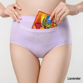 Mid Waist Physiological Underwear Comfortable Warm Cotton Palace Pockets Warm Baby Leak Menstrual Hygiene Pants Beige/L