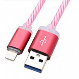 Micro USB Cable Colorful Gradient LED Light Charging Cable For Android Phone Blue/1m