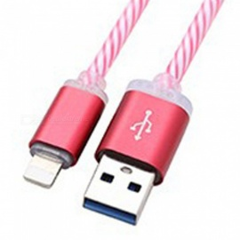Colorful Luminescent Data USB Cable LED Gradient Light Mobile Phone Charging Cables For Apple IPhone Blue/1m