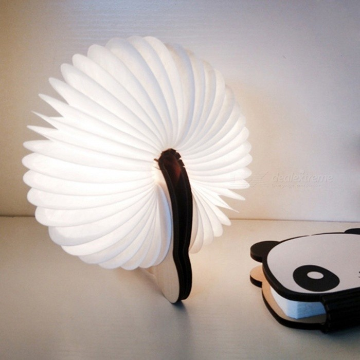 Folding-LED-Book-Light-Panda-Color-Changing-Table-Lamp-USB-Rechargeable-For-Home-Desk-Ceiling-Decor-ColorfulWhite