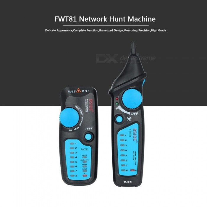 BSIDE FWT81 Cable Tracker, RJ45 RJ11 Telephone Wire Network LAN TV Electric Line Finder Tester As the Picture