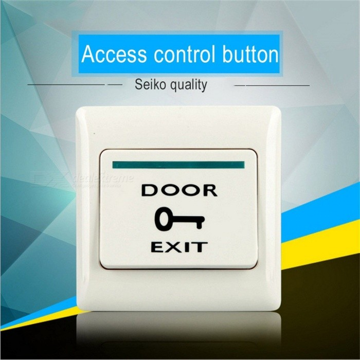 Plastic Push Door Release Exit Button Switch For Door Access Control System, Press To Open The Door White