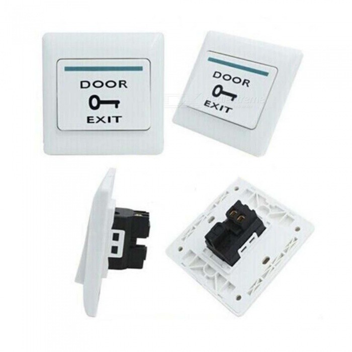 Access Control Mounted Exit Button With Bottom Box For Rfid Reader Card Open Door Access Switch Suitable For All Kinds Of Electric Lock