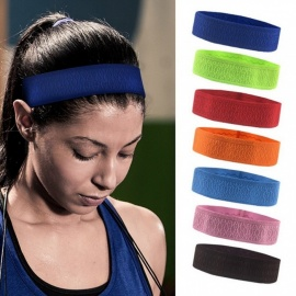 Non-Slip Elastic Head Sweatband, Soft Silicone Running Yoga Hair Band, Fitness Basketball Tennis Headband Green