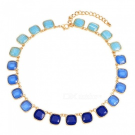 Fashion Creative Resin Chains Necklaces Personality Exaggerate Fashion Jewelry For Women Blue