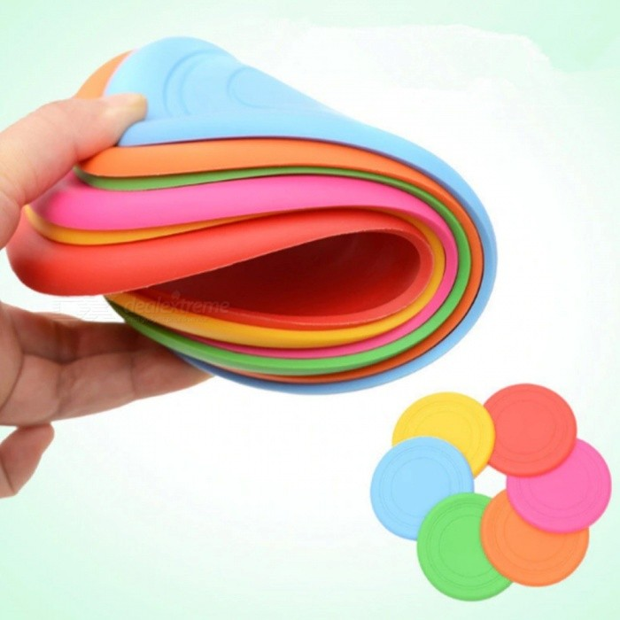 Fashion Simple Dog Frisbees Puppy Training Toy, Rubber Fetch Flying Disc Frisby Pet Supplies Dog Accessories Green/Other