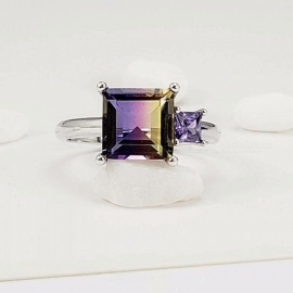 New-Fashion-S925-Sterling-Silver-Rings-Colorful-Gem-Crystal-Adjustable-Ring-Fashion-Jewelry-Accessories-For-Women-Green