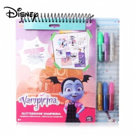 Disney-Vampiric-Notebooks-Set-Images-To-Decorate-With-Glitter-Markers-Pens-For-Children-Study-DIY-Supplies-Purple