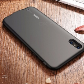 Thin-3500mAh-Back-Clipped-Battery-Case-Power-Bank-Phone-Cover-Shell-W-Data-Cable-For-IPHONE-X-Supports-Call-And-Music-Black