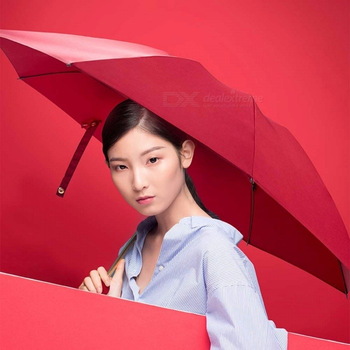 Rain Smile Non-automatic Three-folding Umbrella Nano Hydrophobic Sunny And Rainy Umbrellas Lemon yellow