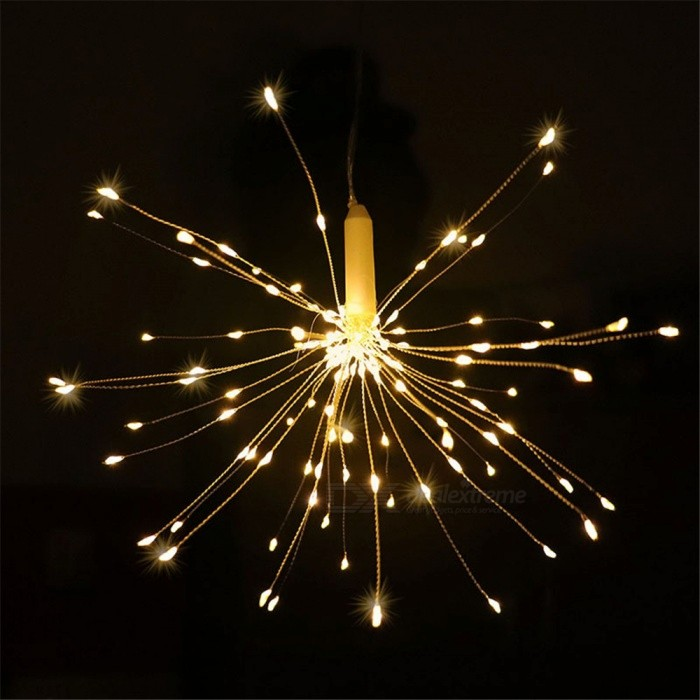 YWXLight Warm White LED String Lights Firework Battery Operated Decorative Fairy Lights