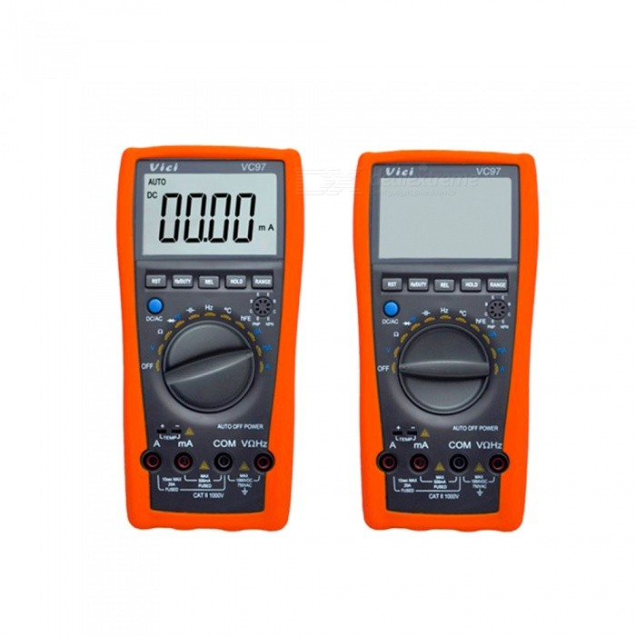 VICI  VC97 Digital Multimeter Counts Auto/Manual Range AC/DC Volt Amp Ohm Capacitance Frequency Temperature Diode Tester