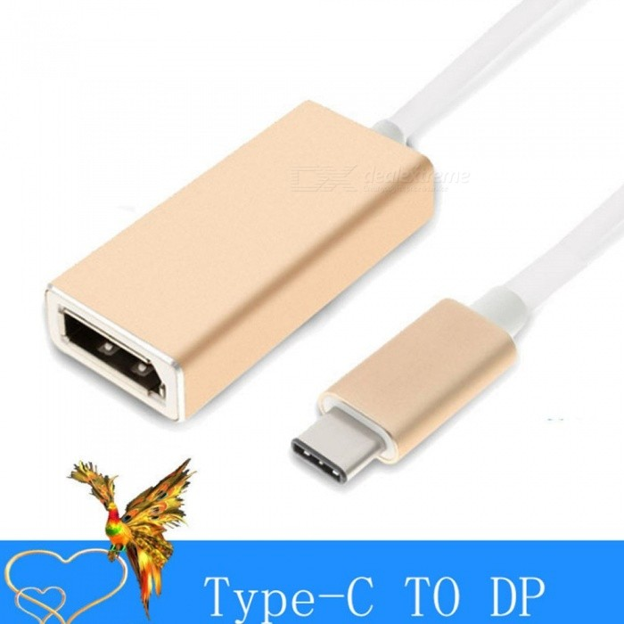 USB-31-Type-C-To-DisplayPort-HD-Converter-Dual-Side-Plug-And-Play-Type-C-To-DP-Adapter-Cable-Gold