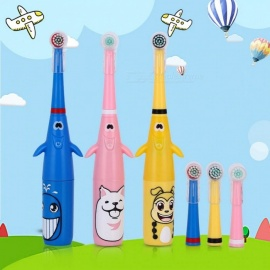 Electric-Toothbrush-Waterproof-Soft-3D-Rotation-Type-Automation-Toothbrush-With-Heads-Personal-Care-For-Children-Blue