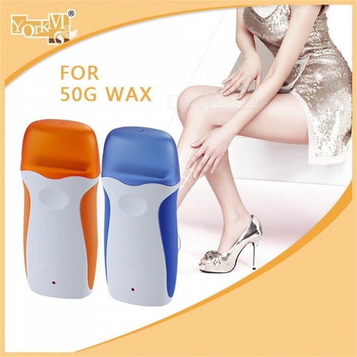 Portable Electric Wax Heater Epilator, Rolling Cartridge Depilatory Heater, Female Hair Removal Shaving Tool As the Picture