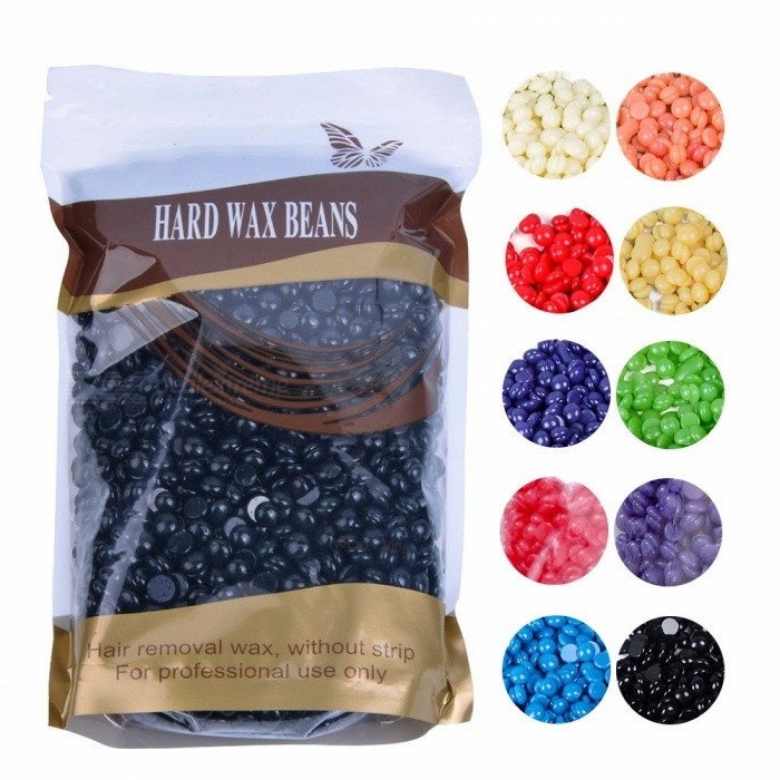Lavender Scent Hand Painless Wax Beans, Depilatory Wax Pellet Hot Film Female Hair Removal No Strip Hard Wax Bead Orange