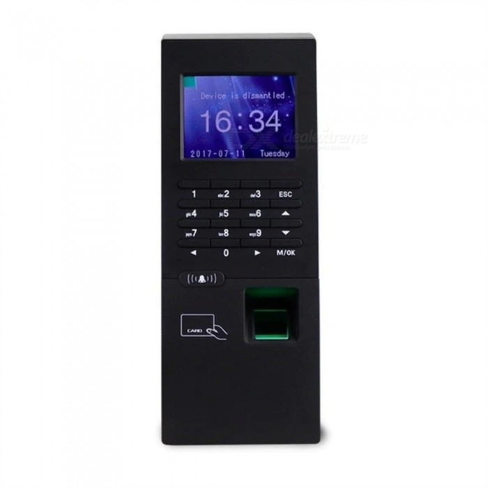 Standalone Fingerprint Reader Time Attendance Machine, RFID Finger Lock Access Control Password Unlock Entry System Black