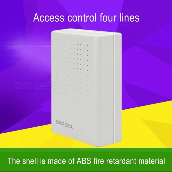 Wired Door Bell Chime, DC 12V Vocal Wired Doorbell Welcome Door Bell Office Home Security Access Control System White