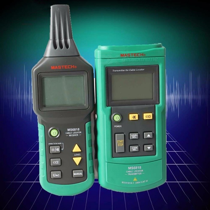 MASTECH MS6818 Advanced Wire Tester Tracker, Multi-function Cable Detector 12~400V Pipe Locator Meter Green
