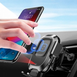 BASEUS-Portable-IR-Infrared-Induction-Smart-Wireless-Charger-Car-Navigation-Mount-Phone-Holder-Bracket-Stand-Black