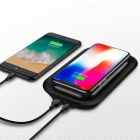 JOYROOM D-T199 2 In 1 Li-polymer Battery Desk Wireless Charger External Power Bank 10000mAh With Holder Black