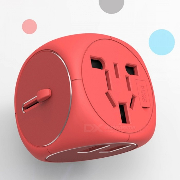 Universal Multifunction Mini Portable 100~250V Travel Adapter Dual USB EU US AU UK Plug Charging Power Adapter Universal Plug/Black